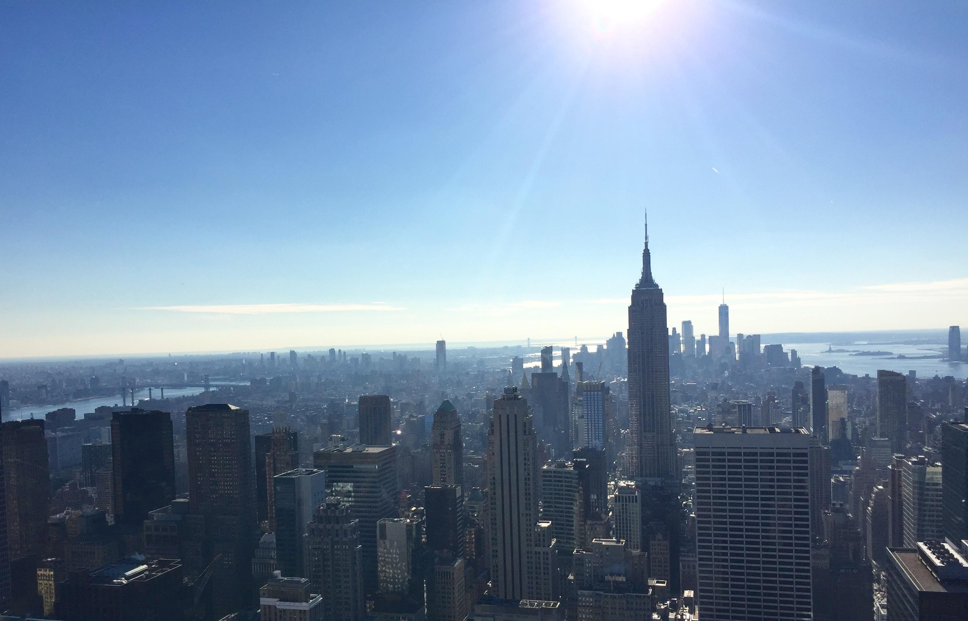Vy över New York från Rockefeller center